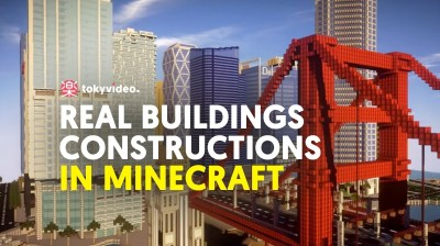 Real building constructions in Minecraft