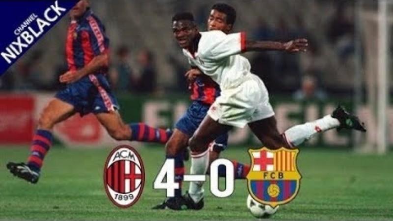 Ac Milan Fc Barcelona Full Match 1994 Champions League Final Tokyvideo