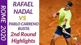 Highlights Rafa Nadal Vs Pablo Carreno Masters Rome 2020 Tokyvideo